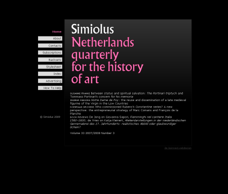 Homepage simiolus.nl